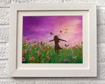 Be Free,Fine Art, Giclee Mounted , UK Seller.
