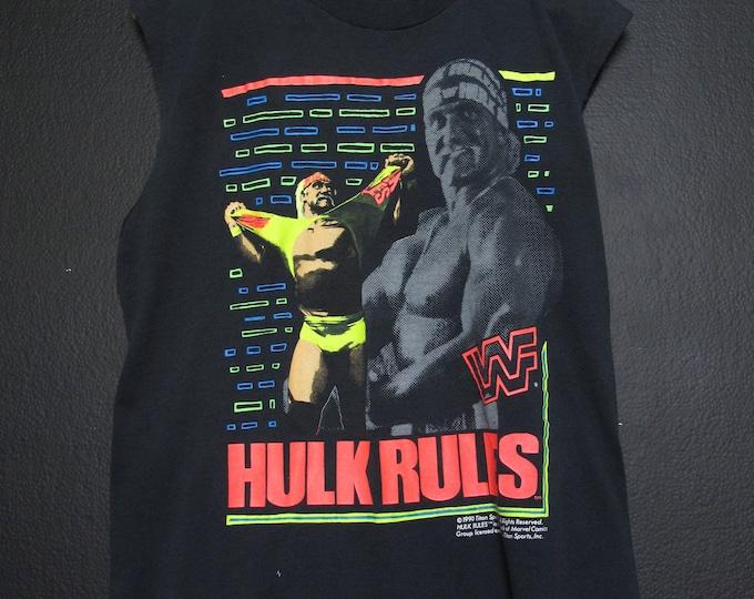 Hulk Rules WWF wrestling 1990 vintage Tshirt