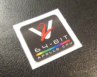 VAMPIRE Accelerator Commodore Amiga Label / Aufkleber / Sticker / Badge / Logo 2,0 x 2,0cm [335d]