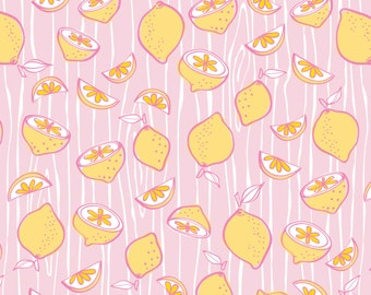 1/2 yd Pink Lemonade Citrus Slices by Camelot Fabrics 3240101 1 Pink