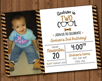 Two Cool Birthday Invite File with Photo