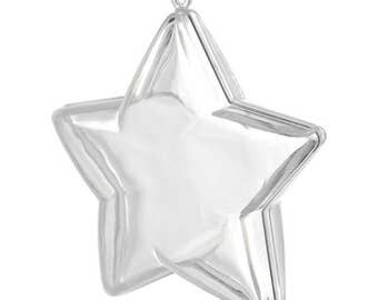 """3D Star Shaped Bath Bomb Mold Bath Fizzy Mold Plastic Clear 3.5"""" 90mm Lot of 1, 5, or 10"""