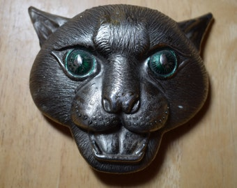 Panther belt buckle. White metal. very good used condition. 110x95mm.