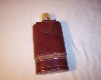 Flask with plastic shot glasses (2) by Shields 5th Avenue