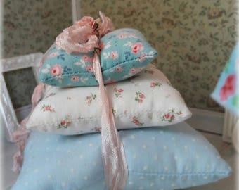 Lot 3 Spring Shabby Garden cushions. Doll House