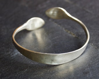 Solid Silver Hallmarked Sugar Tong Bangle Vintage Jewellery Special Gift - Handmade Recycled Jewelry