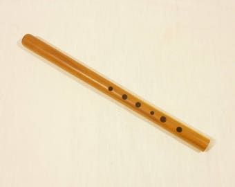 "Wooden tin whistle, 6 hole flute in ""D"" - professional"