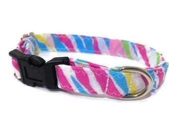 Extra Small dog collar,  Spring dog collar, Toy Dog collar, Chihuahua dog collar, tiny dog collar, Lil dog collar, pink dog collar