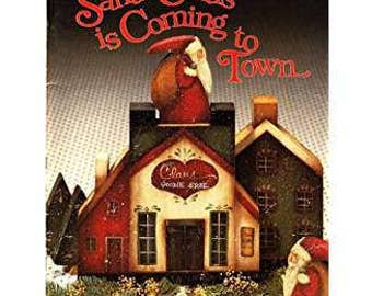 Santa Claus Is Coming to Town Tole Painting Folk Art Craft Book by Elaine Thompson