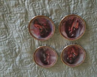 Set of 4 Lee Bogel Native Beauty Mini-Plates - Heart's Desire - Awakening - Warm Interlude - Stirrings of the Heart Native American Indian