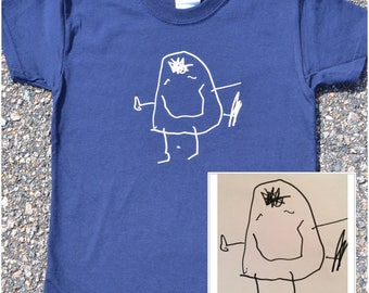 YOUR DRAWING on a shirt. ImadeIT shirts