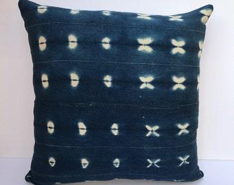 """Vintage Indigo Pillow 20"""" x 20"""""""