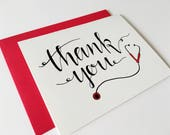 Medical Thank You Card / Nurse Thank You / Card for Nurse / Doctor Thank You / Card for Doctor
