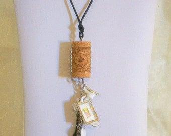 Cork Necklace - CN03 - Tea Time