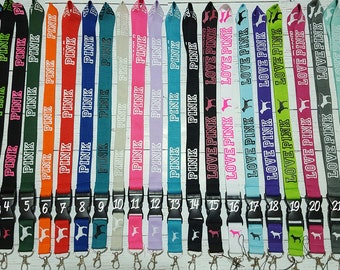 Lanyard <3 Pink - 24 Color Options