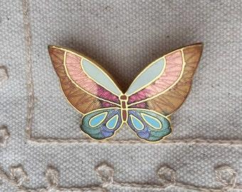 Cloisonne Enamel Butterfly Brooch PIn, Vintage Butterfly pin, Butterfly pin, Enamel Brooches,  enamel butterfly brooch, cloisonne