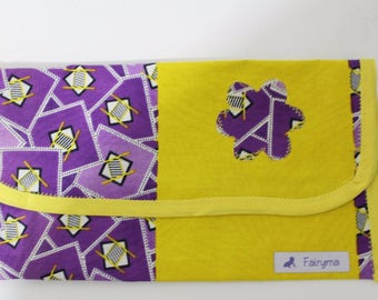 African baby clutch-diaper/wipes holder