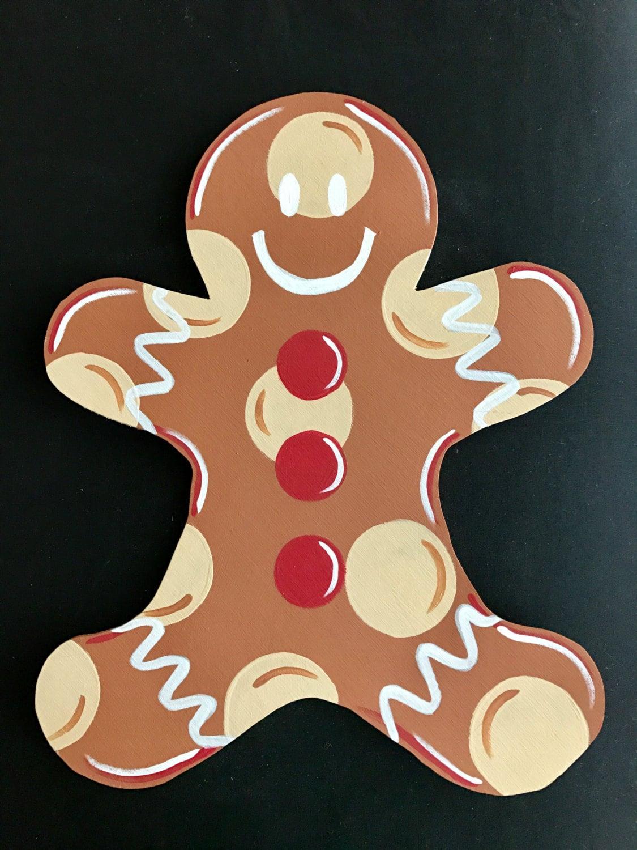 Gingerbread Man Door Hanger Christmas Door Decor Gingerbread Door Sign Winter Wreath ( & Gingerbread Man Door Hanger Christmas Door Decor Gingerbread Door ...