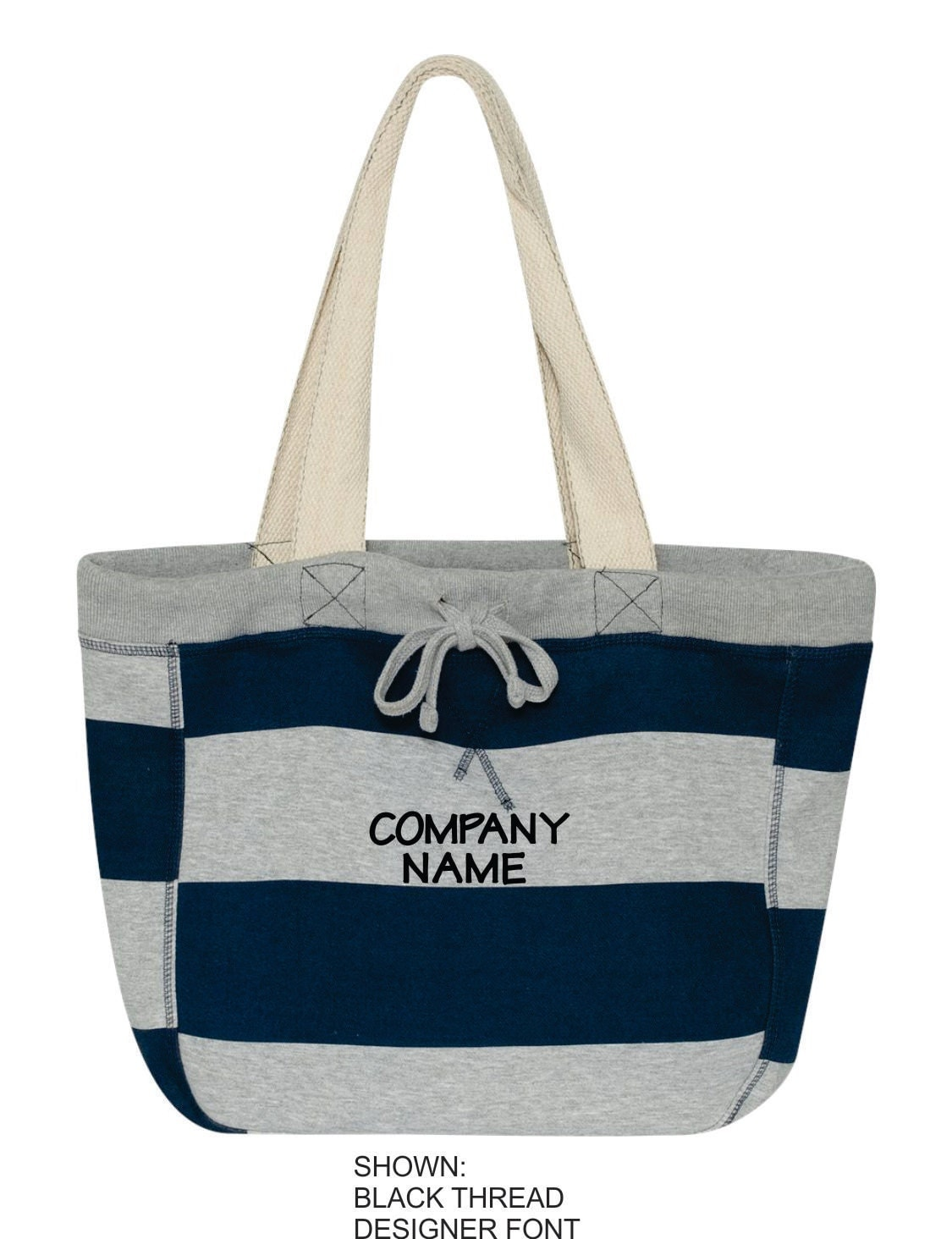 Personalized beach tote monogrammed company bag custom