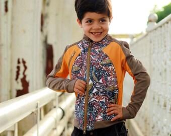 Softshell windbreaker jacket/ Toddler boys bomber jacket/ Kids waterproof outerwear/ Children breathable spring jacket/ Print jacket outfit
