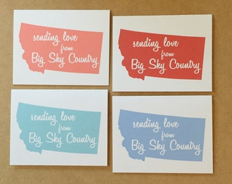 Montana Card - Sending Love from Big Sky Country - Montana Gift - Big Sky Country - Montana Love - Montana Greetings - Montana Post Card