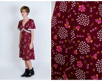 Vintage crochet trimmed tea dress