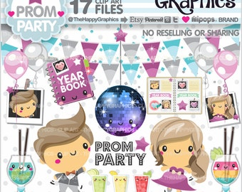 80%OFF - Prom Clipart, Prom Graphics, COMMERCIAL USE, Prom Party, Planner Accessories, Prom Celebration, Promenade Dance, High School