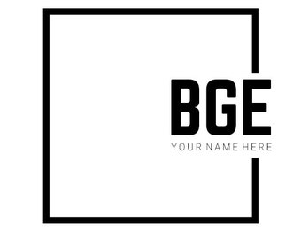 Simple Logo Design - Minimal Logo -  Box Logo - Square Logo  - Premade Logo Design - Geometric Logo - Monochrome Design - Minimalist Logo