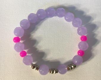 Purple & Pink Flower Bracelet