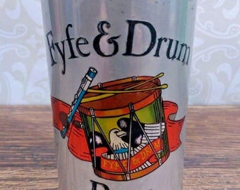 Vintage Fyfe and Drum Beer Can 12 oz Pull Tab Thick Side Seam Genesee Brewing
