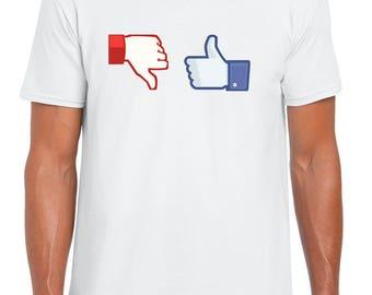 Planet Ex | Like dislike -  Mens T-Shirt