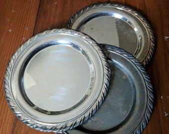 Vintage Silver Plates (4)