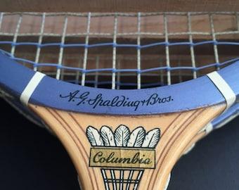 Spaulding Wooden Badminton Racket