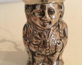 Solid Silver Antique Toby Jug - Victorian - John George Piddington