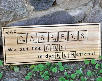 Scrabble Wall Art, Personalized Sign, Custom/Personalized, 7x18