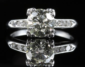 Antique Art Deco Diamond Engagement Ring 18ct Gold
