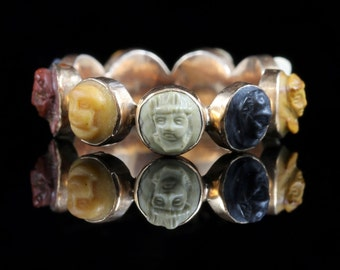 Antique Georgian Cameo Eternity Ring Circa 1800