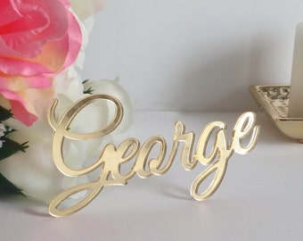 Acrylic Wedding Place Card, Place Setting, Guest Names, Name Place Settings, Place Settings  [NPC]