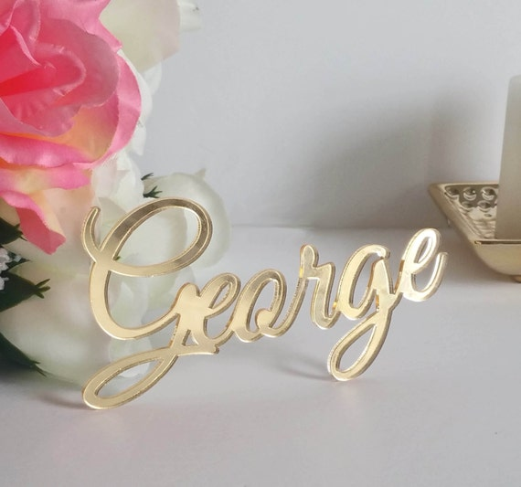 Acrylic Wedding Place Card Place Setting Guest Names Name