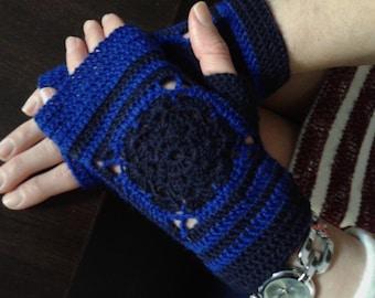 Unusual Fingerless gloves/Office fingerless gloves/Stylish crochet fingerless/driving gloves/Handknit armwarmers/топли ръкавици без пръсти