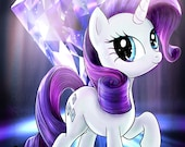 Rarity My Little Pony Glossy Poster - Free USA Shipping