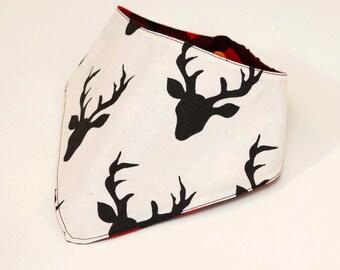 Baby Toddler Lumberjack and Bucks|Deer Bandana Bib | Hipster Bandana Bib | Woodland Bandana Bib