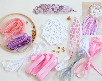 DIY kit Dreamcatcher, Do it yourself dreamcatchers, Kids Craft set, Girls DIY kit gift idea, Boho Dreamcatcher Craft kit , Boho chic home
