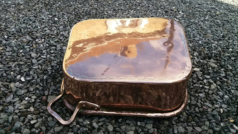 Copper cookware Turbot turbotiere fish steamer kettle poissoniere ...