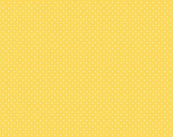 White on Yellow Swiss Dots by Riley Blake Designs - Polka Dot - Quilting Cotton Fabric - by the yard fat quarter half