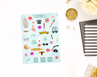 Tiffany Collection Deco Planner Stickers, Breakfast at Tiffanys