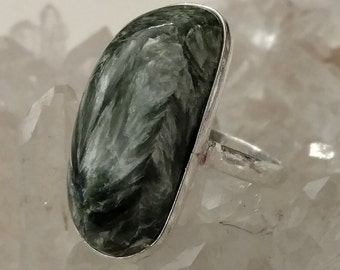 Seraphinite Ring, Size 9 1/2