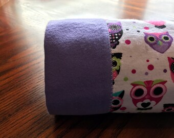 Purple and Pink Baby Owl Baby Blanket