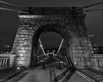 Suspension Bridge over River Dee