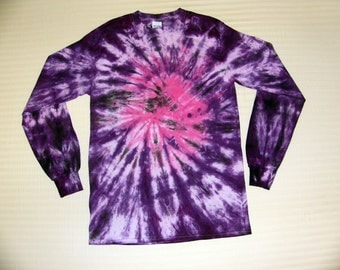 Tie Dye T Shirt Long Sleeve Spiral